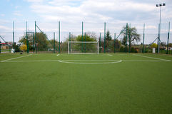 Penalty area on football court Royalty Free Stock Photos