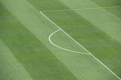 Penalty area on soccer field Stock Photography