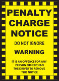 Penalty Charge Notice Stock Photography