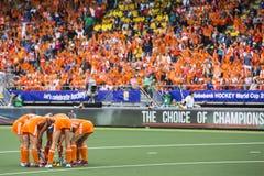 Penalty corner tactics Stock Images