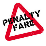 Penalty Fare rubber stamp. Grunge design with dust scratches. Effects can be easily removed for a clean, crisp look. Color is easily changed Royalty Free Stock Images