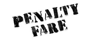 Penalty Fare rubber stamp Royalty Free Stock Images