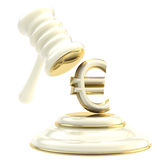 Penalty and fine illustration as  gavel Royalty Free Stock Photo