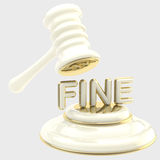 Penalty: gavel breaking word Royalty Free Stock Image