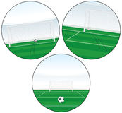 Penalty goal buttons Royalty Free Stock Photos