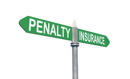 Penalty or Insurance sign concept Royalty Free Stock Photo