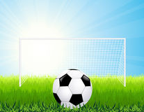 Penalty kick. Illustration, AI file included Royalty Free Stock Image