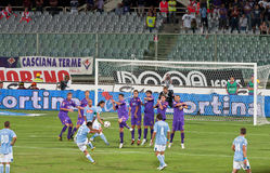 A Penalty Kick in Fiorentina vs Napoli Stock Photography