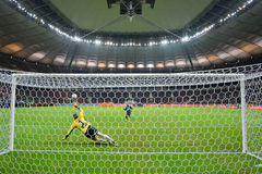 Penalty kick Stock Image