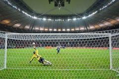 Penalty kick stock image