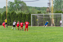 Penalty kick Royalty Free Stock Photos