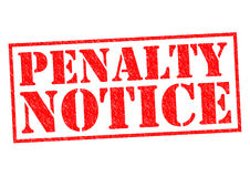 PENALTY NOTICE Stock Image