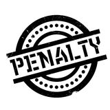Penalty rubber stamp Stock Images