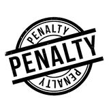Penalty rubber stamp Royalty Free Stock Image