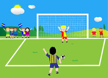 Penalty shoot royalty free stock photo