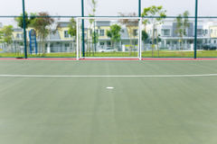 Penalty spot and goal post futsal court Royalty Free Stock Photos