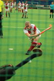 Penalty stroke in field hockey Stock Photography