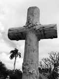 Penance. Ornate graveyard cross stock photography