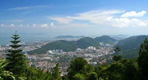 Penang from above Royalty Free Stock Image