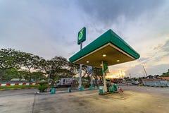 Petronas petrol station sunset Royalty Free Stock Photo