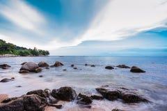 Penang Beach. Sea view at Miami Beach, Penang Royalty Free Stock Image