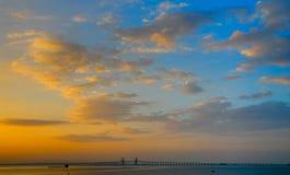 Penang-Brücke - ein neues morgen Stockbild