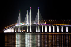 2. Penang-Brücke leuchten Lizenzfreie Stockfotografie