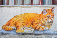 Penang cat mural Royalty Free Stock Photo
