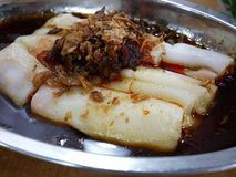 Penang Chinese Dim Sum Chee Cheong Fun. Chinese Dim Sum - rice noodle roll with barbecue pork Stock Image