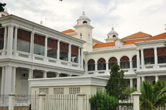 Penang Colonial Architecture - The Court House. Beautiful Penang Colonial Architecture building  in Malaysia with blue sky background Stock Photo