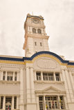 Penang Customs building - Wisma Kastam. George Town, Penang Malaysia. This clock is atop a tower, atop one of the older buildings located in 'old' Georgetown Royalty Free Stock Photo
