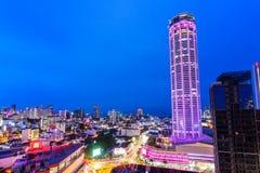 Penang, die Perle von Orientalen, in blaue Stunden Stockfotografie