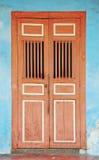 Penang - The Door. The traditional door in Penang stock photo