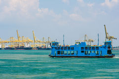 Penang ferry. Georgetown, Penang, Malaysia - February 20, 2015: Ferry carrying passengers cruising between Malaysia mainland and Penang island, Malaysia Stock Photos