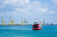 Penang Ferry Service. View of a Penang ferry service heading to Butterworth Stock Photography