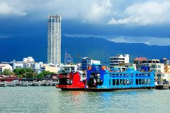 Penang Ferry Service, Georgetown, Malaysia. Penang Ferry Service is the oldest ferry service in Malaysia. Located in the state of Penang, this famous ferry Stock Photo