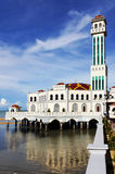 Penang Floating Mosque. View of the Penang Floating mosque on a sunny day Royalty Free Stock Images
