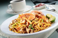 Penang Fried Prawn Noodle Stock Photography