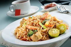 Penang Fried Prawn Rice Vermicelli Stock Photography