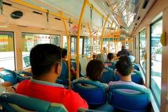 Penang: Gente en el autobús imágenes de archivo libres de regalías