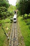 Penang Hill Train,Most iconic transport at Penang Hill, Malaysia stock photo