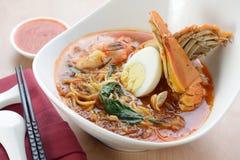 Penang Hokkien Prawn noodles Stock Image
