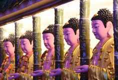 Penang Kek Lok Si Temple Buddha Statue royalty-vrije stock fotografie