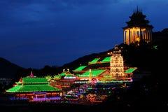 Penang Kek Lok Si Temple, Malaysia. Penang Kek Lok Si Temple at night during Chinese New Year, Malaysia.rn Stock Photos