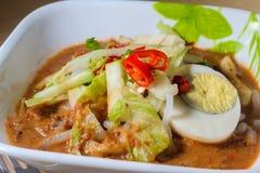 Penang Laksa - пряное блюдо Малайзии стоковая фотография rf