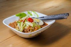 Penang Laksa - пряное блюдо Малайзии стоковое фото rf
