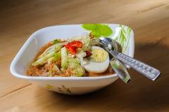 Penang Laksa - пряное блюдо Малайзии стоковые изображения