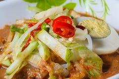 Penang Laksa - plato picante de Malasia Imagenes de archivo