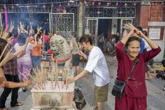 PENANG, MALÁSIA - 3 de fevereiro de 2011 sim novo chinês Fotos de Stock Royalty Free