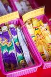 PENANG, MALAISIE 10 AOÛT 2015 : : le ruban coloré pour prient dedans Photo stock
